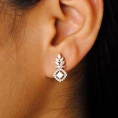 Princess Cut Diamond Statement Earrings Bridal Diamond Stud | Etsy Bridal Earrings, Bridal Jewelry, Gold Jewelry, Stud Earrings, Gold Bracelets, Fine Jewelry, Statement Earrings, Diamond Jewelry, Vintage Jewelry