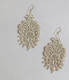 DIY Lace Earrings | Whimseybox