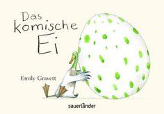 Alle Vögel hatten ein Ei gelegt, nur der Erpel nicht. Zum Glück fand er eines und für ihn war es das schönste Ei der Welt. Eines Tages knackste es in den Eiern verdächtig und heraus schlüpften viele kleine hübsche Vögel. Nur in dem Ei des Erpels tat sich nichts. Er wartete und wartete, bis es plötzlich knirschte... Mit leichtem Strich illustriert, wartet die Geschichte mit einem überraschendem Ende auf, an dem nicht nur Kinder Spaß haben! Emily Gravett, Das komische Ei. Sauerländer Verlag…