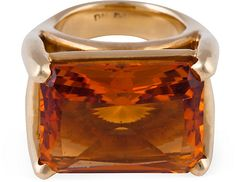 One Kings Lane - Objects of Desire - Citrine Cocktail Ring