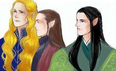 Glorfindel, Lindir and Erestor
