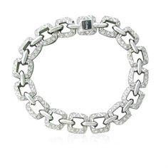 Asprey Of London 18K Gold Diamond Link Bracelet