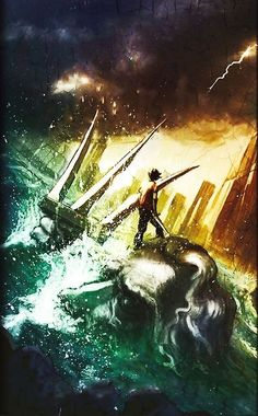 New Percy Jackson and the Olympians book cover for The Lightning Thief