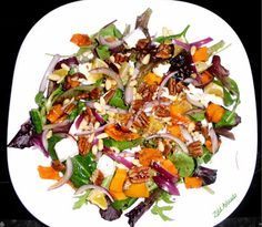 Adopt-A-Goat and Charred Goat Cheese Salad - Taste With The Eyes Mustard Plant, Cooking With Fresh Herbs, Watercress Salad, Goat Cheese Salad, Tahini, One Pot Meals, Fennel, Vinaigrette, Cilantro