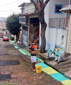 Gabriel Jesus painting the streets of Brazil yellow and green for the 2014 World Cup. Safe to say he's come a long way.