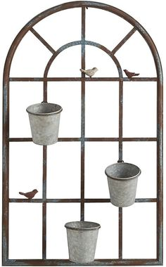 Bring sunny, cheery style to your favorite space our delightful metal planter. Garden Landscaping Diy, Outside Wall Art, Outdoor Window Decor, Patio Wall Decor, Wall Planters Outdoor, Garden Mirrors, Patio Wall, Brick Wall Gardens, Patio Wall Decor Outdoor