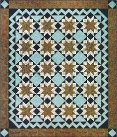 Marrakesh. Made with bold and intricate geometrics, just like you'd expect to see in the Moroccan city of Marrakesh, you'll use Deb's Tucker Trimmer 1 and Wing Clipper 1 tools to make this elegant quilt.