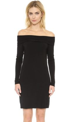 ¡Cómpralo ya!. Feel The Piece Elana Off Shoulder Dress - Black. A fold over panel accents the off shoulder neckline on this formfitting Feel The Piece dress. Back vent. Long sleeves. Unlined. Fabric: Slinky jersey. 95% rayon/5% lycra spandex. Wash cold. Made in the USA. Measurements Length: 33in / 84cm, from center back Measurements from size XS/S. Available sizes: M/L,XS/S , vestidoinformal, casual, informales, informal, day, kleidcasual, vestidoinformal, robeinformelle, vestitoinformale…