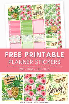 Tropical Getaway Sticker Kit  Fits Erin Condren Vertical Life Planner