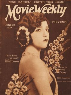 Movie Weekly Magazine with Bebe Daniels 1923