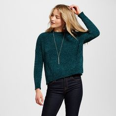 Women's Pullover Sweaters - Merona Green S