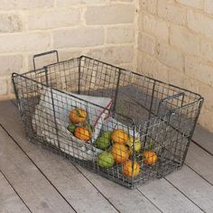 Check out the Collapsible Wire Basket in Boxes, Baskets, & Bins, Storage & Organization from Sundance for Home Goods Decor, Home Decor Outlet, Wire Baskets, Storage Baskets, Decorative Items, Decorative Pillows, Rustic Farm Table, How To Make Christmas Tree, Kitchen Time