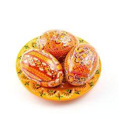 Shop Wooden Eggs Sets. Buy Set of 3 Argyle Orange Wooden Easter Eggs with Plate. Visit us!