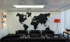 Mizzi Studios Laser cut Map of the World