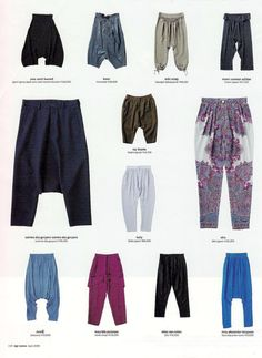 So many names for fun pants. Great for a retro themed party or just comfy pants. :) Super easy pattern provided # Easy Make # Easy Wear! Sewing Pants, Sewing Clothes, Sarouel Pants, Harem Trousers, Sewing Tutorials, Sewing Patterns, Pijamas Women, Balloon Pants, Diy Vetement
