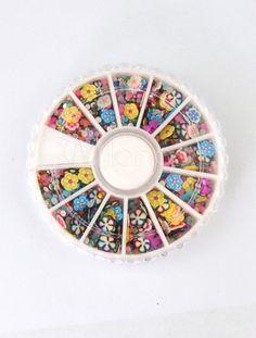 Beautiful Multi Color Floral Print 12 Colors Faux Leather Nail Stickers - Milanoo.com