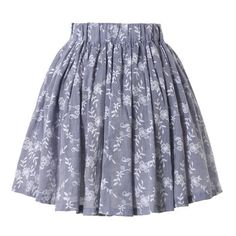 Chicwish: Floral Skater Skirt Smoke//