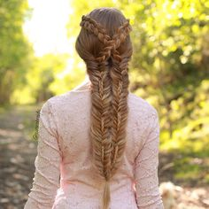 Intricate braided hairstyle