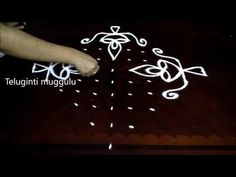 Simple Deepam kolam designs with 11-1 straight | chukkala muggulu with dots| rangoli design - YouTube Rangoli Designs With Dots, Rangoli Designs Images, Rangoli With Dots, Beautiful Rangoli Designs, Simple Flower Design, Simple Flowers, Diwali Rangoli, Simple Rangoli, Muggulu Dots