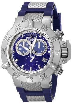 Invicta Men's Subaqua Chrono Blue Polyurethane Blue Dial - Watch 5512,    #Invicta,    #5512,    #WatchesDiverQuartz