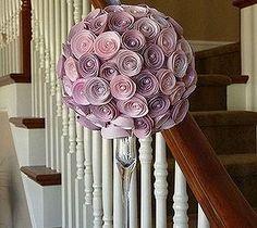 Paper Rose Topiary