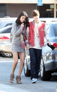 love the dress and boots  selena gomez and justin bieber