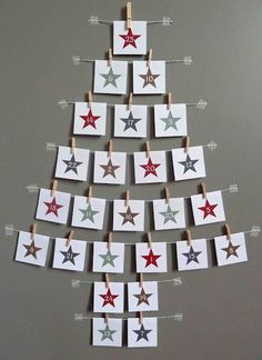 Magical and Creative DIY Advent Calendar Ideas You'll Love Wall Christmas Tree, Noel Christmas, Handmade Christmas, Christmas Decorations, Dyi Decorations, Christmas Ideas, Christmas Offers, Christmas Countdown, Christmas Calendar