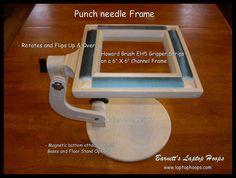 "Barnett's Laptop Hoops - Barnett's Laptop Hoops - 6"" x 6"" Punch Needle Gripper Frame with Howard Brush EH5 Strips, $169.99 (http://stores.laptophoops.com/barnetts-laptop-hoops-6-x-6-punch-needle-gripper-frame-with-howard-brush-eh5-strips/)"