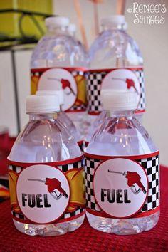 Hot Wheels Racing Car Party water bottles