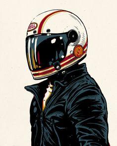 "commedesmotards: "" Adi Gilbert - Super Hooligan Tour poster Roland Sands Design…"