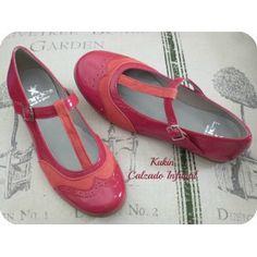 calzado infantil - Merceditas rojas Landos - zapatos niña