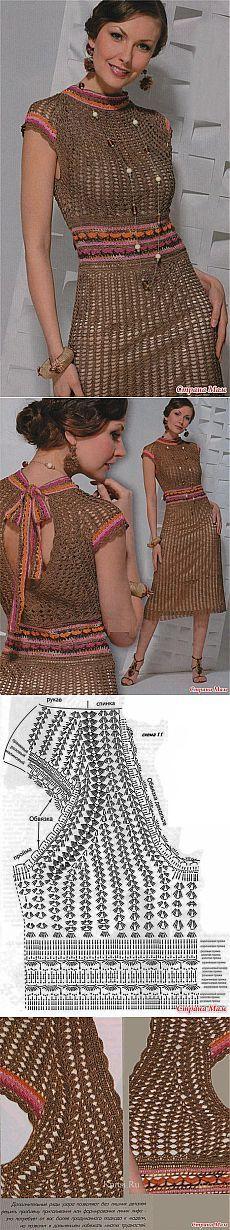 Платье в сеточку связанное крючком. Из интернета. - Все в ажуре... (вязание крючком) - Страна Мам