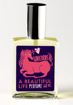 """"""" Inspired by myth and the power of belief, and an ode to your teenage years - Where barbie dolls and blacklight posters co-existed in your boudoir. Bright notes of Lemon, Peppermint, and Pomegranate are grounded by a fresh, earthy base. Mystery swirls and surrounds with Nag Champa and Frankincense. It's all bubblegum, bridles, and girly fantasy - sweet, sexy, and innocent."""""""