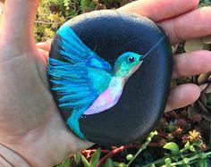 Hummingbird Painted Rock