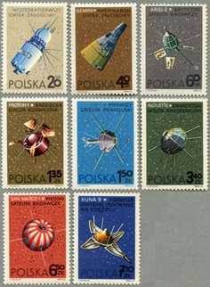 Awesome Polish space stamps.