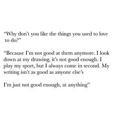 Depression has taken over my life. (Depression quote, anxiety quote) I'm not good enough