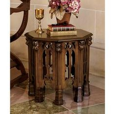 Small Side Table http://cdn.content.compendiumblog.com/uploads/user/c84d5719-0f4f-454d-a67e-9daa80650985/32809e62-8b69-45a8-b1cb-12a691259778/Image/e5dfc4d3fb880365eb0f2c220debbb25/gothic_revival_octagonal_side_table.jpeg