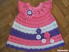 Crochet Knitting Handicraft: Wonder sarafan for princesses