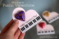 Piano valentine printable