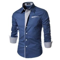 NEW Camisa Masculina Slim Fashion Men Shirt 2018 New Brand Casualdresslliy