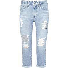 Womens Boyfriend Jeans AG Jeans The Drew Light Blue Boyfriend Jeans (2,820  HKD) ❤