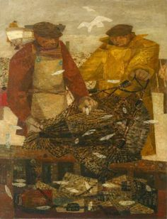 Fishermen with Sprats, 1948 by Prunella Clough (British 1919-1999)