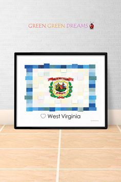 west virginia print poster wall art flag west virginia us state flags wv printable download home