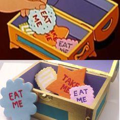 Alice in Wonderland - Eat Me Cookies Prop on Etsy, $38.00