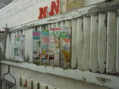 for tearoom magazines - an old shutter.vintage. old shutters. persianas antiguas. decoration. decoración
