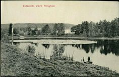 Akershus fylke Eidsvoll kommune. Rolighed tidlig 1900-tall. Gården tilhørende Mathiesen-familien.