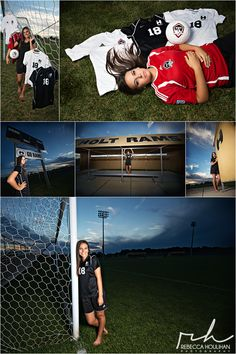 senior pictures soccer poses by Rebecca Houlihan Photography