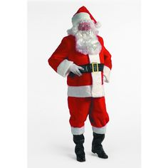 Santa looks good in this suit.  I want my husband to get one of these and dress up for the holiday party!