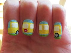 Back To School Bus Nails