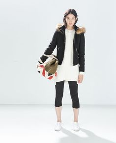 JACKET WITH FUR HOOD from Zara (RM399)  REF. 1255/224
